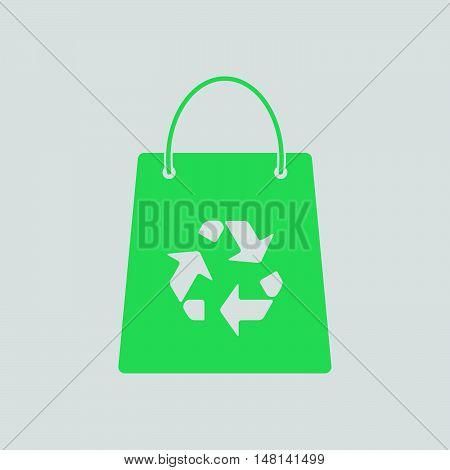 Shopping Bag With Recycle Sign Icon