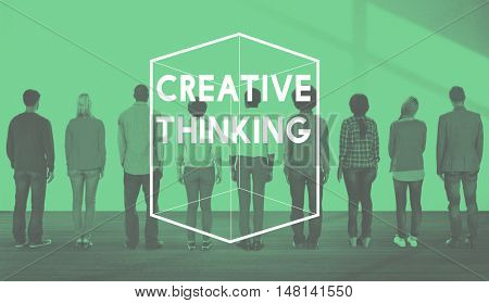 Creative Thinking Different Cube Graphic Concept