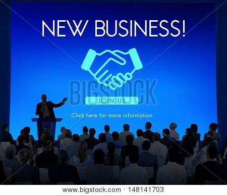 Business Organization Handshake Graphics Concept
