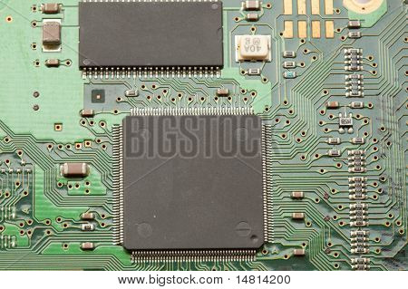 Microchip on pcb board