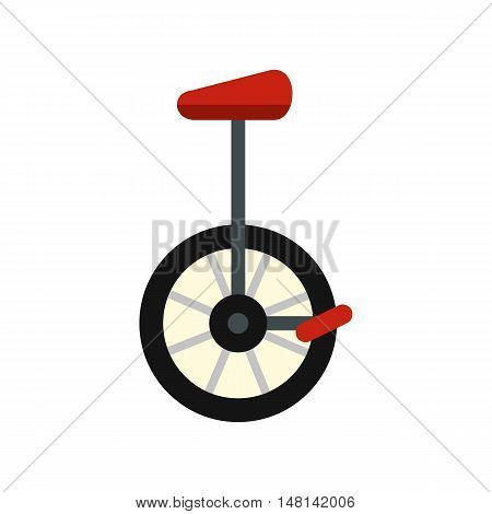 Unicycle icon in flat style isolated on white background. Riding symbol vector illustration