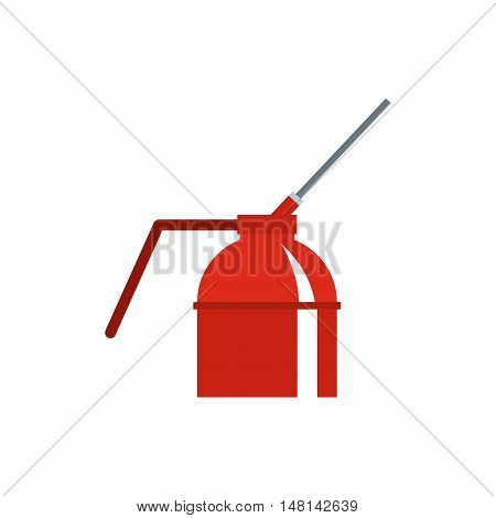 Fire extinguisher icon in flat style isolated on white background. Tool symbol vector illustration