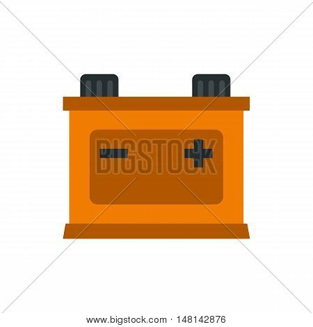 Machine battery icon in flat style isolated on white background. Electric power symbol vector illustration