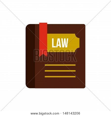Book of law icon in flat style isolated on white background. Justice symbol vector illustration