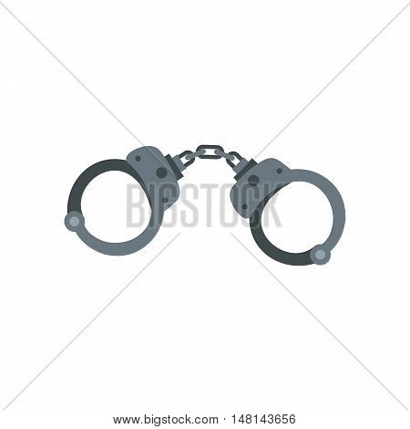 Handcuffs icon in flat style isolated on white background. Capture symbol vector illustration