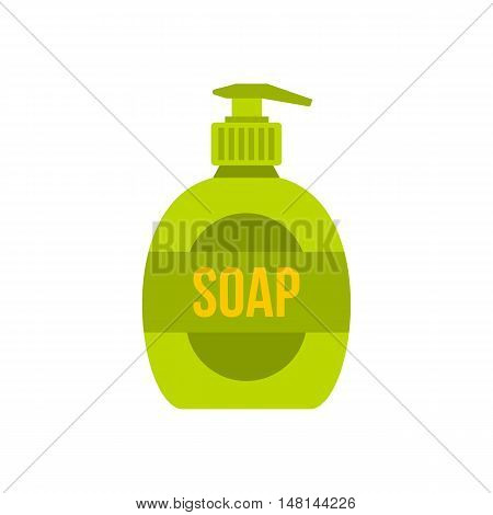 Liquid soap icon in flat style isolated on white background. Purity symbol vector illustration