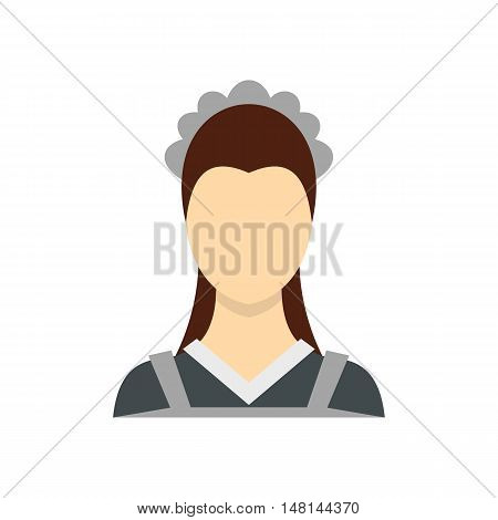 Maid icon in flat style isolated on white background. People symbol vector illustration