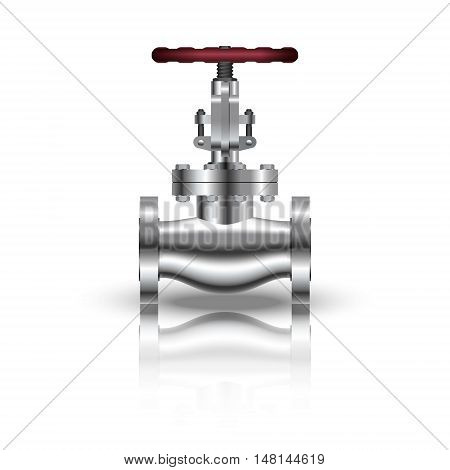 realistic valve isolated on white background. Vector illustration.