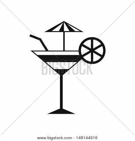 Fruit cocktail icon in simple style isolated on white background. Drinks symbol vector illustration