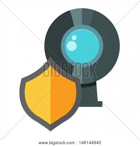Web camera vector illustration icon
