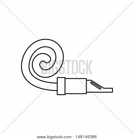 Pipe tongue icon in outline style isolated on white background. Toy symbol vector illustration