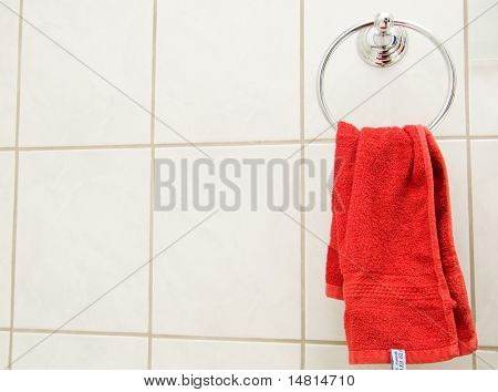 red towel closeup