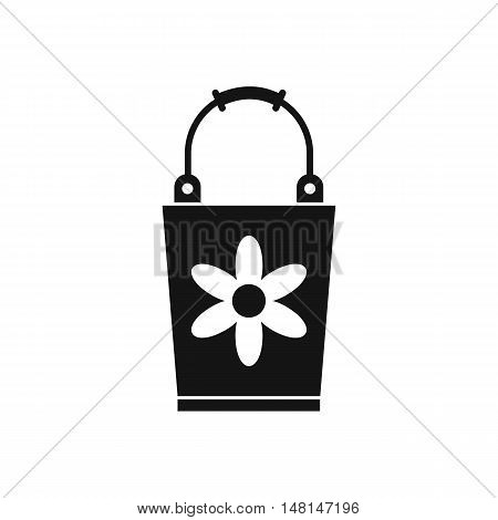 Bucket icon in simple style isolated on white background. Cleaning symbol vector illustration