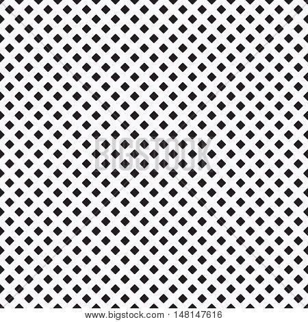 Black dense curvy rhombus pattern on white background