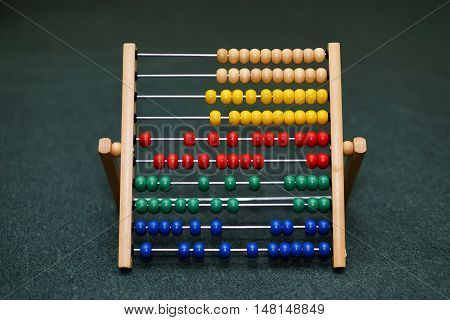 children's abacus on the floor. isolated on background.