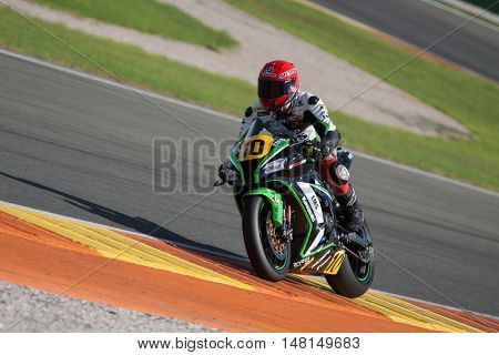 CHESTE, SPAIN - SEPTEMBER 17th: Enrique Ferrer in Open1000 during Spanish Speed Championship CEV at Cheste Circuit on September 17, 2016 in Cheste, Spain
