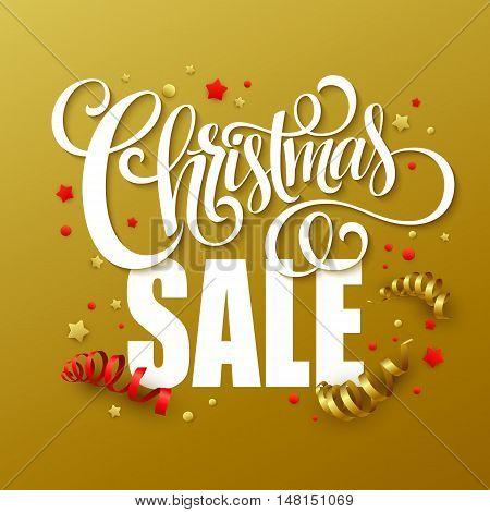 Christmas sale design template. Vector illustration EPS10