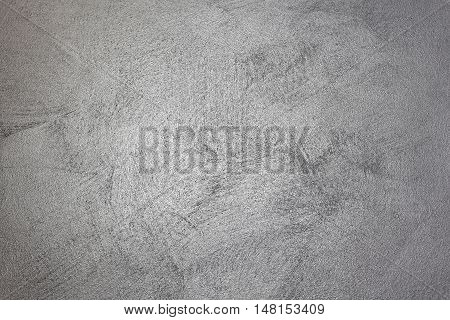Silver Wall With Visible Brush Strokes Background