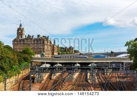 Waverly Station And Hotel Balmoral In Edinburgh