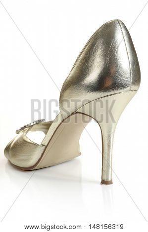 Lady shoe, studio isolated on white background
