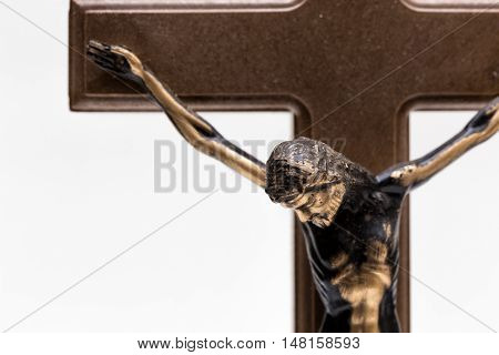 A representation of Jesus nailed in the cross