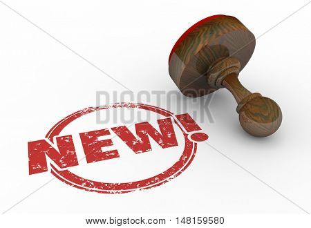 New Latest Improved Product Round Red Stamp 3d Illustration
