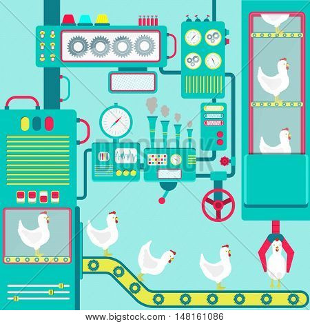 Factory Of Chickens