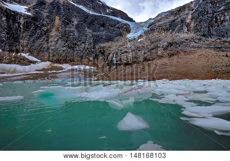 Angel Glacier at Mount Edith Cavell. Jasper National Park. Canadian Rockies. Alberta. Canada.