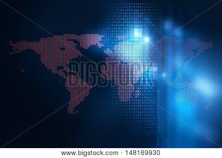 Futuristic Earth Map Technology Abstract Background