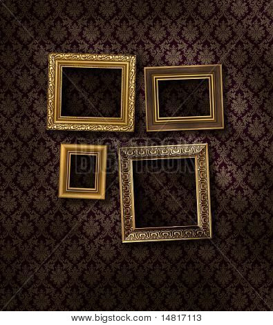 Slanted Gilded Frames