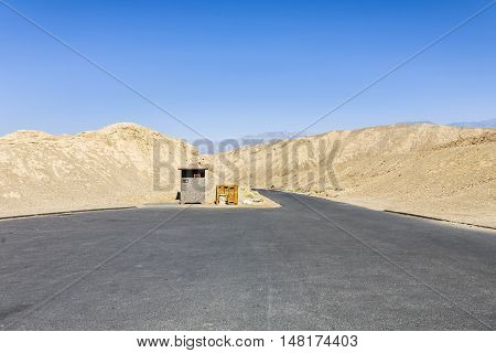 Empty Parking Place At Death Valley
