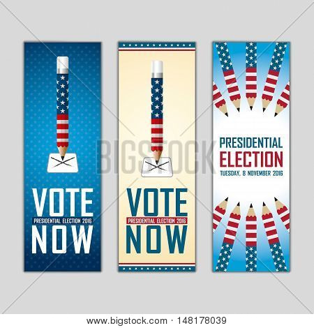 2016 Usa Presidential Election Campaign. Banner.