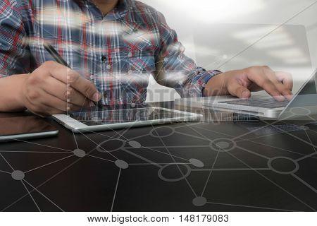 Designer Working Digital Tablet
