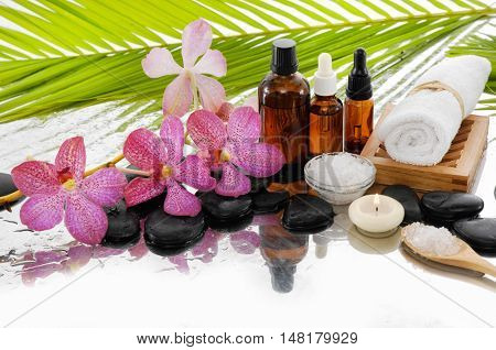 spa concept with spa set