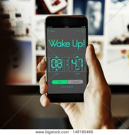 Reminder Wake Up Clock Concept