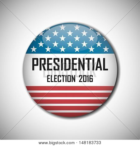 Usa Presidential Election Campaign Badge Button.