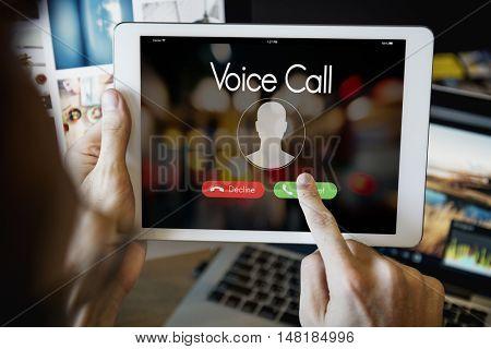 Voice Call Communication Connect Concept
