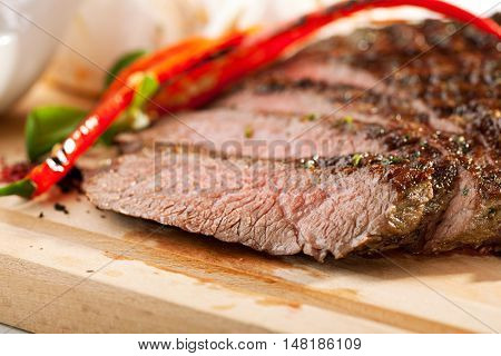 Grilled Flank Steak with Rosemary