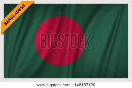 National flag of People's Republic of Bangladesh - waving edition