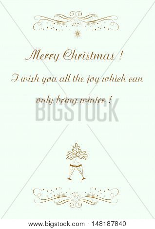 Christmas background with regards to holiday Merry Christmas editable and scaleable vector illustration