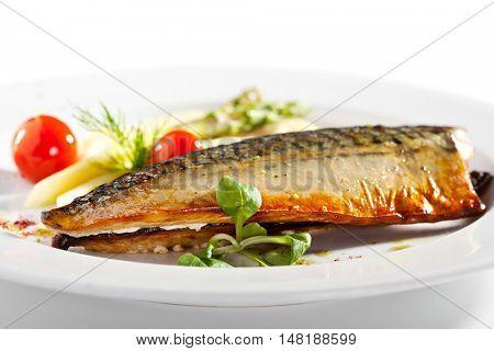 Smoked Fish with Mashed Potato