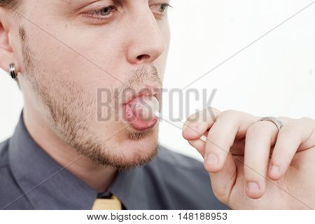Man With Lollypop