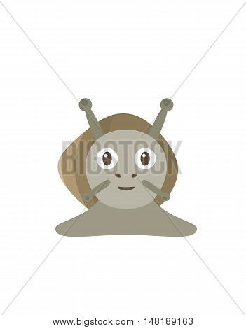 Funny Snail Character