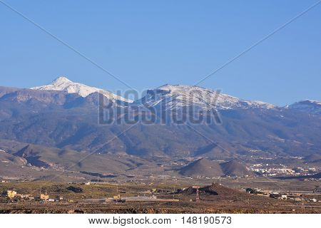 Snow Covered Mount Teide