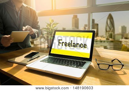 Freelance Part Time Employment Concept