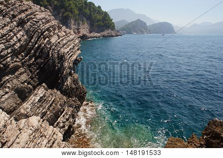 Layered Mountains Of Montenegro Are Composed  Sedimentary Rocks