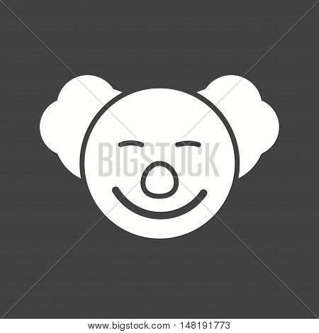 Clown, happy, smiling icon vector image. Can also be used for circus. Suitable for mobile apps, web apps and print media.