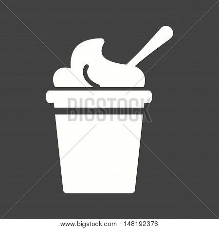 Cream, cup, frozen icon vector image. Can also be used for circus. Suitable for web apps, mobile apps and print media.
