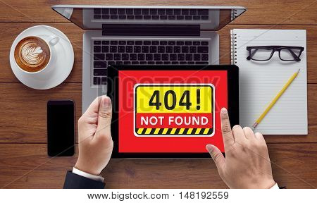 404 Not Found Concept