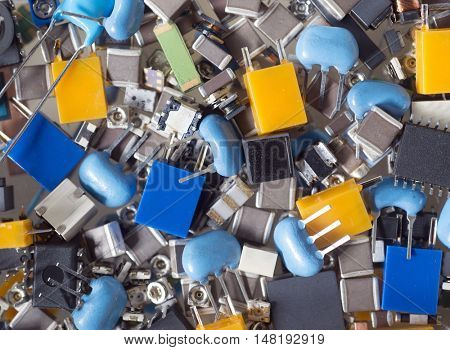 electronics components, full frame photo